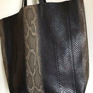 Celine Bags - CELINE Python Tote Msrp $3,400
